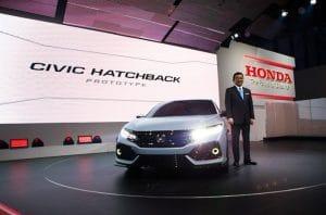 Honda Unveil Civic Hatchback Prototype at Geneva Motor Show