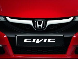 Genuine Honda Civic 5 Door Front Sports Grille-2012>