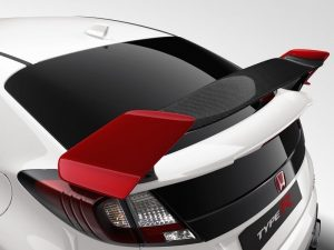 Genuine Honda Civic Type-R Carbon Fibre Rally Red Tailgate Spoiler 2015-2016