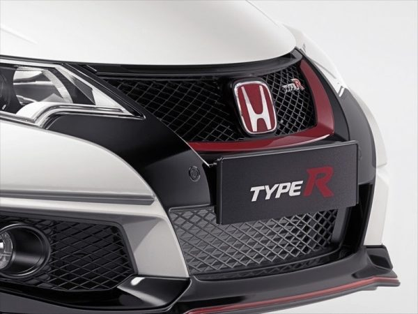 Genuine Honda Civic Type-R Rally Red Front Grille Garnish-2015-2016