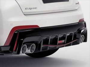 Genuine Honda Civic Type-R Rally Red Rear Diffuser Decoration-2015>