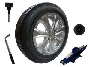 Genuine Honda Jazz Full Size Alloy Spare Wheel & Tyre & Draper Jack & Wrench-2009-2015
