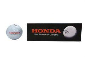 Genuine Honda Callaway Golf Balls-Pack Of 3