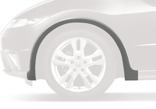 genuine honda civic type  left front grey plastic wheel arch protector   smre
