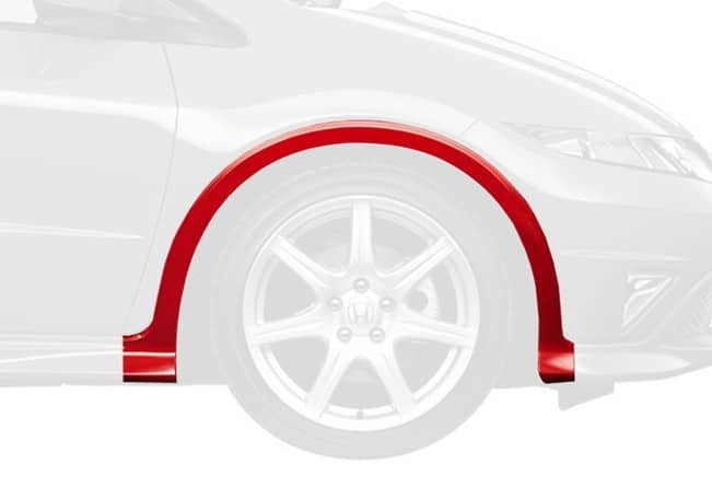 Genuine Honda Civic 5 Door 2006-2011 Right Front Wheel Arch Protector - Painted - Cox Motor Parts