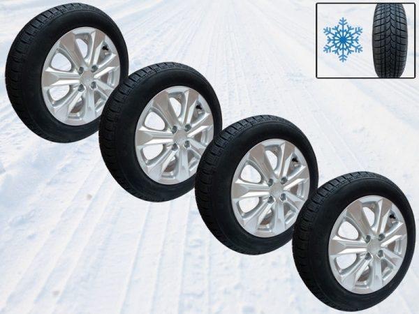 Genuine Honda Jazz 15″ Alloy Wheels Including Riken Snow Tyres 2009-2015