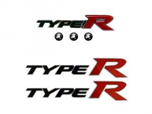 Genuine Honda Civic Front Type-R Grille Badge and Side Decals 2007-2011