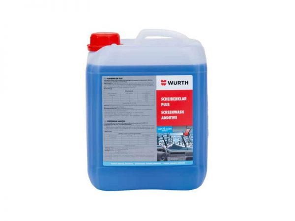Wurth Windscreen Cleaner / Additive Screenwash Plus 5 Litres