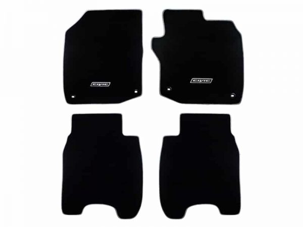 Genuine Honda Civic Tourer 1.8 Petrol Elegance Carpet Mats (Grey Binding) 2014>