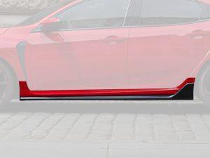 Genuine Honda Civic Type-R FK8 Left Hand Side Skirt (Pre-Painted) 2017 Onwards