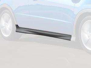 Genuine Honda Civic Type-S Grey Plastic Right Side Skirt