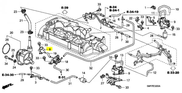 Genuine Honda Accord 2.2 Diesel Frequency Solenoid Valve Filter 2006-2008