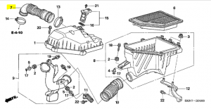 Genuine Honda CR-V 2.2 Diesel Air Box To Turbo Tube 2005-2006