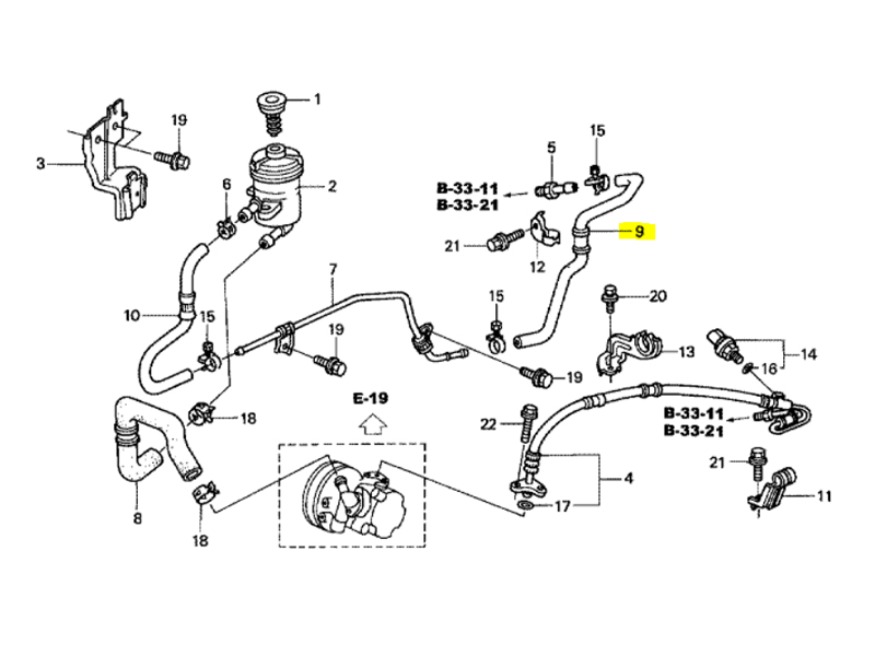 Power Steering Return And Supply Pipe Routing Manual Guide