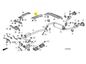Genuine Honda Civic Type-r Fn2 Rear Silencer Heat Shield 2007-2011