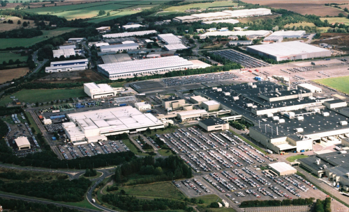 Airal view of the Honda in the UK Swindon Factory Closure