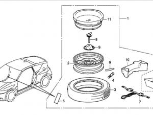 Genuine Honda Cr-z Spacesaver Spare Wheel