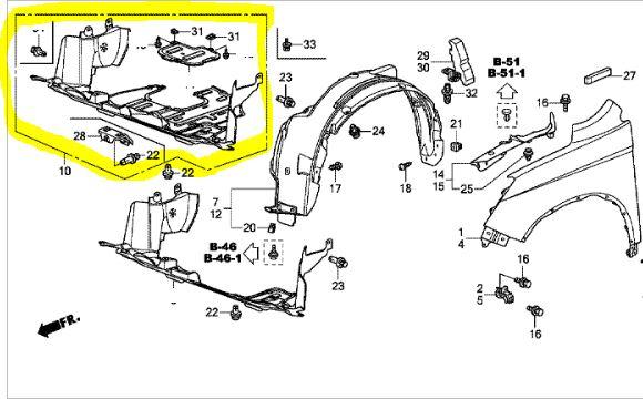 Genuine Honda Cr-v 2.2 I-dtec Engine Under Tray-2010-2012