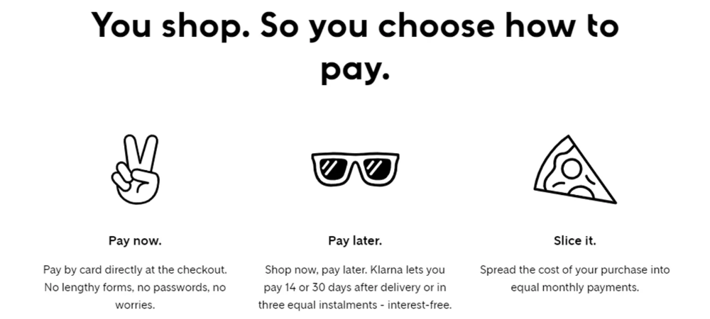 Klarna Options